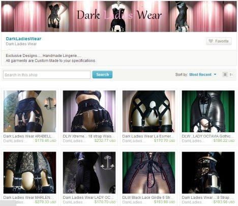 Dark Ladies Wear - Jarretelgordels