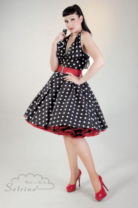 polkadot petticoat jurk